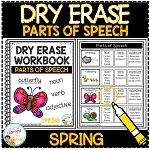 Dry Erase Parts of Speech Workbook: Spring ~Digital Download~